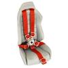Ceinture rouge pour siège baquet avec attache en métal