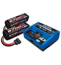 Pack Chargeur 2971G + 2 x Lipo 4S 6700MAH 2890X Traxxas ID