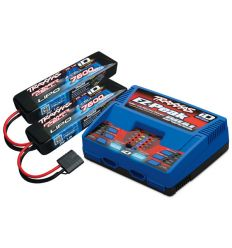 Pack Chargeur 2972G + 2 x Lipo 2S 7600MAH 2869X Traxxas ID