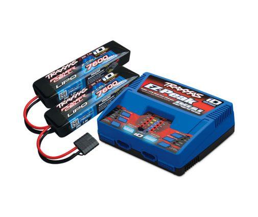 Pack Chargeur 2972G + 2 x Lipo 2S 7600MAH 2869X Traxxas ID