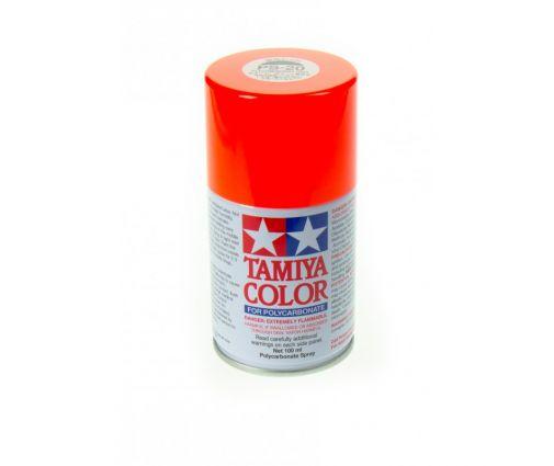 Peinture en bombe Tamiya de 100ml - PS20 Rouge Fluo