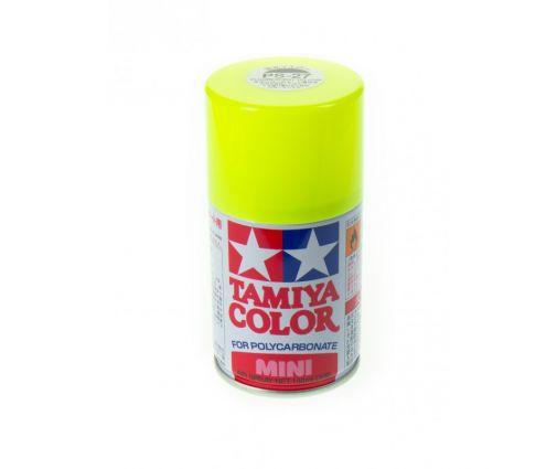 Peinture en bombe Tamiya de 100ml - PS27 Jaune Fluo