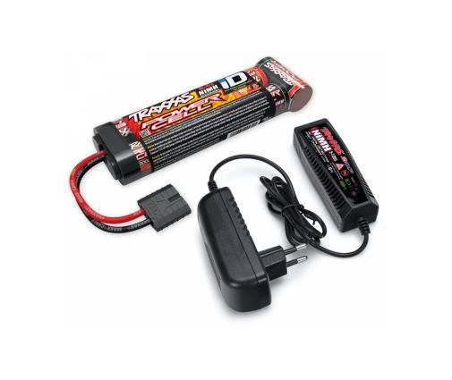 Pack Chargeur Batterie Traxxas NI-MH 8,4V 3000 MAH Long - iD