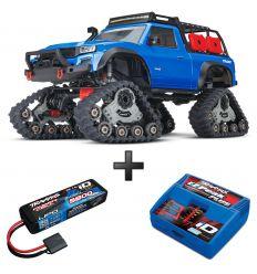 Pack TRX-4 Traxx bleu + Chargeur + batterie 2s 5800 mAh
