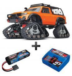 Pack TRX-4 Traxx orange + Chargeur + batterie 2s 5800 mAh