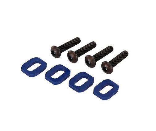 Rondelles de support moteur en alu anodisées bleu (4) X-Maxx ( TRX7759 )