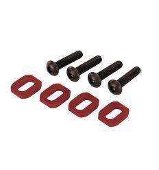 Rondelles de support moteur en alu anodisées rouge (4) X-Maxx ( TRX7759 )