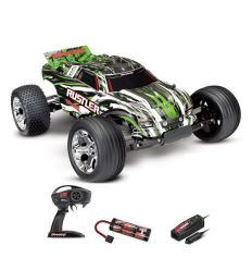 Traxxas Rustler- 4x2 - 1/10 Brushed Stadium Truck TQ 2.4GHZ Rouge