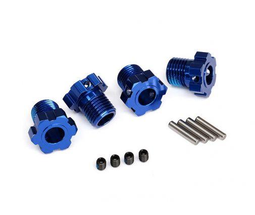 Hexagones de roues anodisés bleu 17mm (X4) ( TRX8654 )