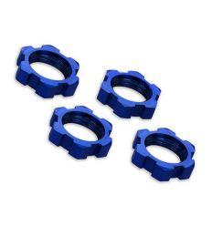Ecrous de roues Alu 17mm Anodisés bleu (4) ( TRX7758 )