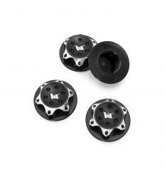 Écrous de Roues Borgne Aluminium 17 mm noir pour Buggy 1/8 (x4)