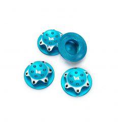 Écrous de Roues Borgne Aluminium 17 mm bleu pour Buggy 1/8 (x4)
