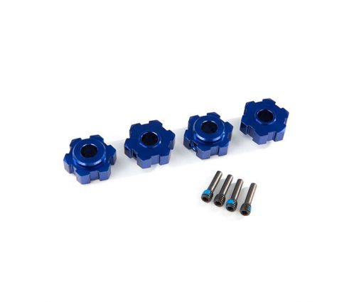 Hexagones de roues Anodisés bleu (4) ( TRX8956X )