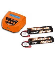 Pack Multi60plus + 2 Lipo 2s 3600 mAh