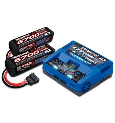 Pack Chargeur 2973G + 2 x Lipo 4S 6700MAH 2890X Traxxas ID
