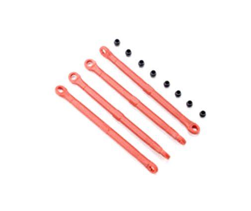 Biellettes plastique rouges avant ou arrière (4) ( TRX7138 )