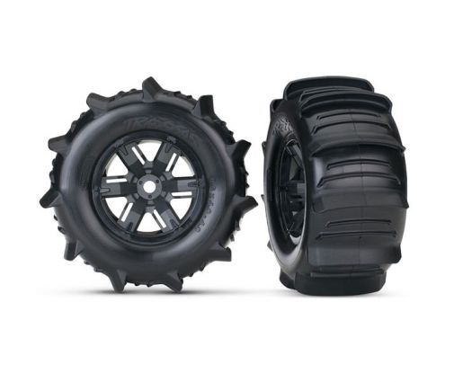 Roues Montées Collées pneus pelle pour X-MAXX 8S ( TRX7773 )