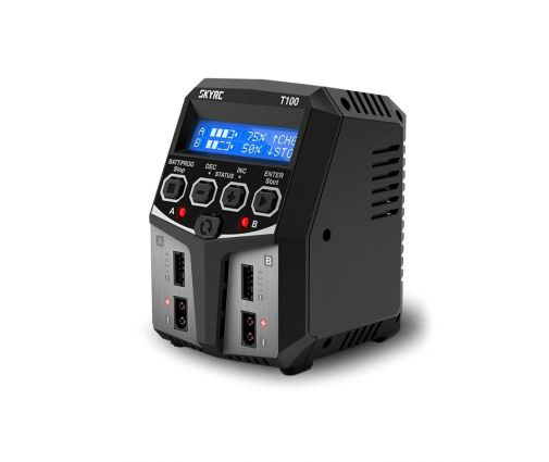 T100 Duo AC/DC Charger (2x50w)