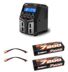 Pack T100 + 2 x Lipo 2s 7200 mAh