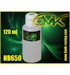 Huile silicone amortisseur 650 cps 6mik (120 ml)