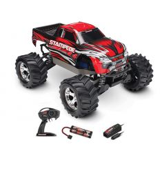 Traxxas Stampede - 4x4 - 1/10 Brushed TQ 2.4GHZ Rouge