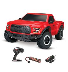 Traxxas Ford Raptor F-150 ROUGE - 4x2 - 1/10 BRUSHED TQ 2.4GHZ - iD