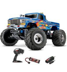 Traxxas Bigfoot - 4x2 - 1/10 Brushed TQ 2.4GHZ Bleu X